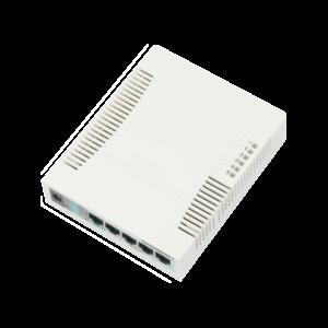 MikroTik RB260GS 5x Gigabit Ethernet Smart Switch, SFP cage, SwOS